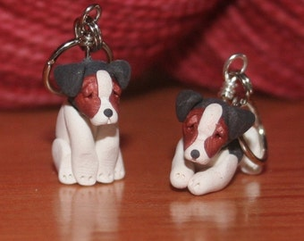 Jack Russell Terrier Stitch Markers (set of 4)