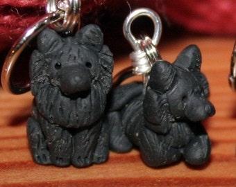 Pomeranian Stitch Markers (set of 5)