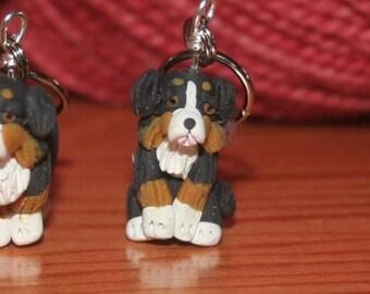 Bernese Mountain Dog Stitch Markers (set of 4)
