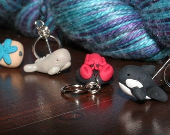 Ocean Animal Stitch Markers (set of 4)