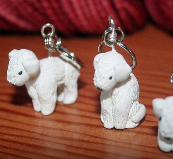 Bedlington Terrier Stitch Markers (set of 4)