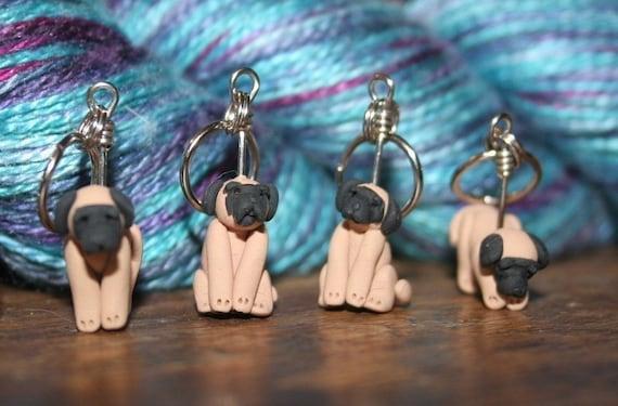 Mastiff Stitch Markers (set of 5)