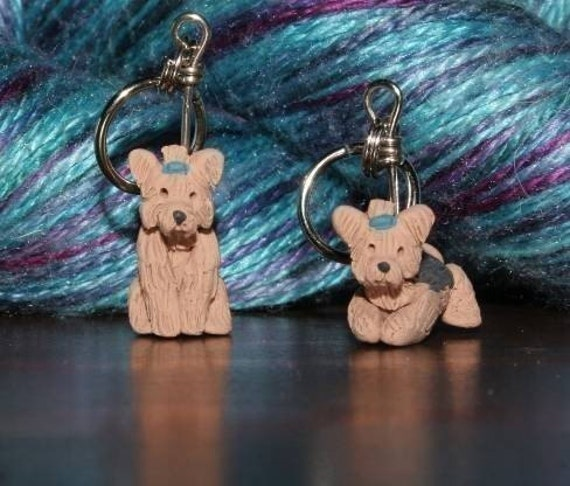 Yorkshire Terrier Stitch Markers (set of 4)