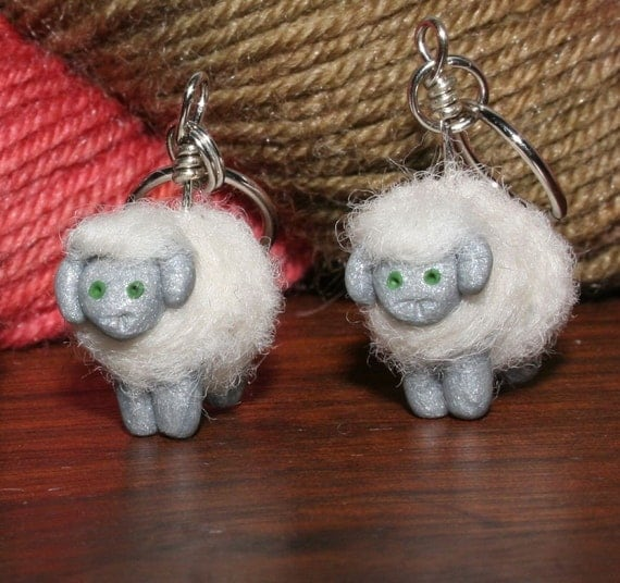 Woolly Sheep Stitch Markers (Grey flock of 4)