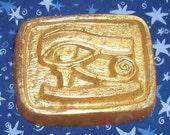 Egyptian Eye of Horus Golden Glycerin Soap, Ginger Frankincense, Myrrh, 3.5 oz
