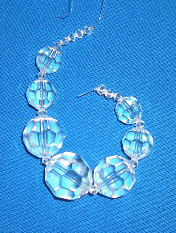 Swarovski Faceted Clear Round Crystals Graduated 4-20mm Strand