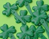 Amy Sedaris would love these shamrock cupcake picks / SPECIAL SALE