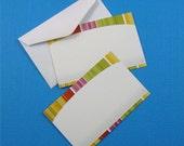 enclosure cards . 24 pieces . colorful stripes