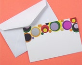 enclosure cards . 24 pieces . colorful metallic bubble circles