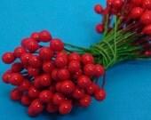 red berry floral supplies 144 pieces  / 12 dozen berries . MEDIUM size no.4
