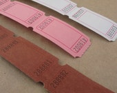 blank tickets carnival supplies / 6 dozen / chocolate strawberry vanilla ice cream assortment