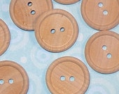 wood buttons . 30 pieces . large set