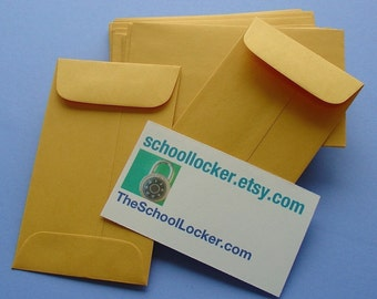 48 little kraft envelopes  / large set