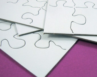 puzzle art cards . creative greeting cards . invites . set of 8