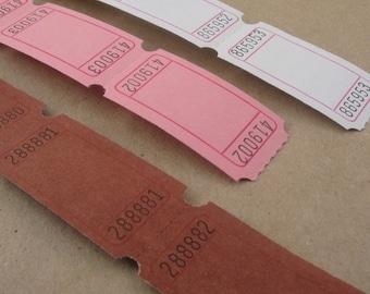 blank tickets carnival supplies / 6 dozen / chocolate strawberry vanilla ice cream assortment