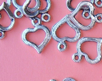 heart charms / 20 pieces
