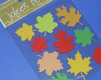 3 packs / jolees autumn leaves embellishments stickers