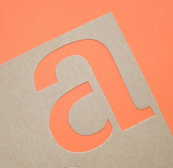 alphabet stencils / big lower case classic font / 5.5 inch . LAST of stock