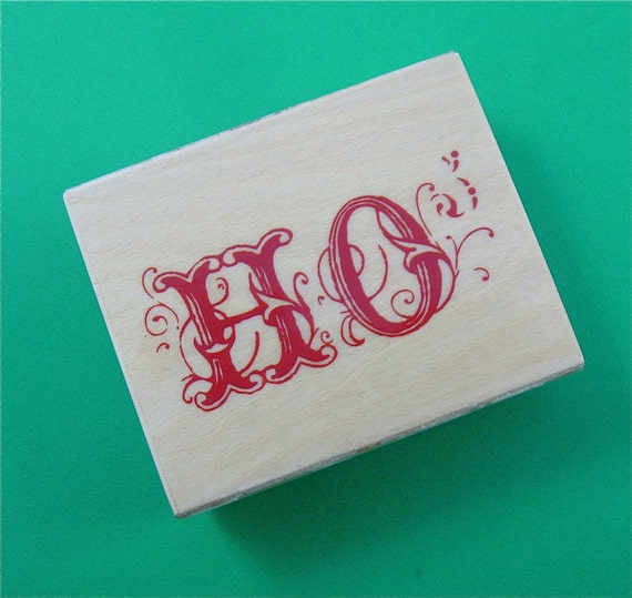 rubber mounted stamp / HO  . LAST of stock
