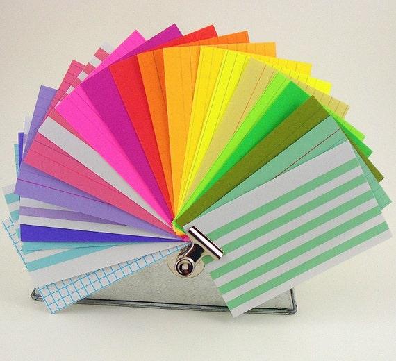 index cards super assortment / 3x5 size / 90 pieces