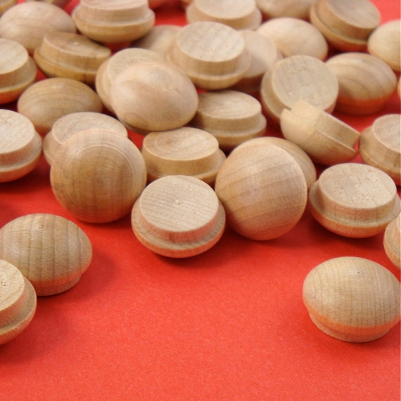 85 Wood 1 2 Inch Buttons Furniture Plugs Mushroom Dome Top