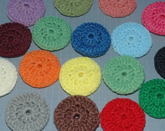 Dish Scrubbies 16 DOUBLE thick Pot Scrubbers, NYlon netting Large Kitchen Dish Scrubbies...your choice of colors... thick