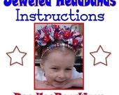 Custom Boutique Beaded Jeweled Headband Instructions DIY FREE SHIPPING DoodlesBowtique
