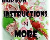 Custom Boutique Hair Bow Instructions and more The Workd Digital Download by DoodlesBowtique DIY FREE SHIPPING