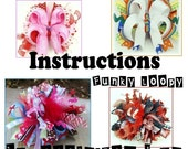 Custom Boutique Hair Bow Instructions SET OF TWO Ebook Diy