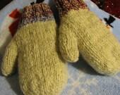 Hanspun\/Hanknit Wool stuffed mittens