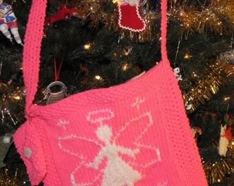 Handknit Angel Bag w/ Matching Purse