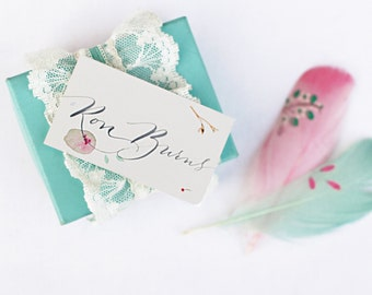 Placecard Calligraphy - LUCIE script