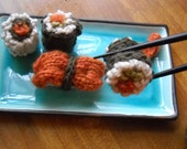 Knitted Sushi for Japan Relief  Charity