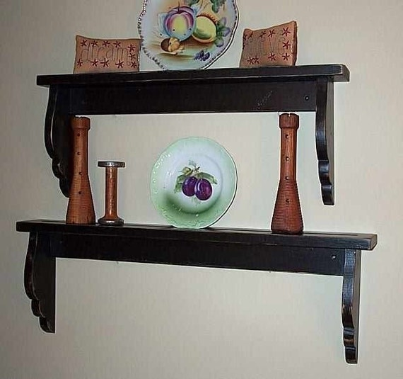 Two Wave Ledge Shelves
