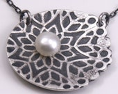 Silver and Pearl Snowburst Pendant