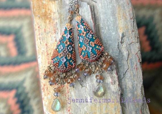 borobudur - tribal inspired earrings