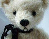 Cream Mohair Artist Teddy Bear  from Milosz Bears - Approx. 9 in, 23 cm - 017