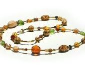 Long natural colored necklace