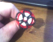 Acolloquist ONLY---Button and Beaded Flower Hairpin