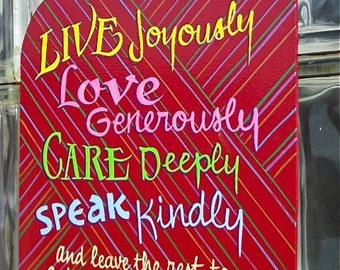 Live Joyously  Wall sign, plaque,