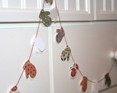 Winter Mittens Drying on a Line Paper Pennant Garland Kit