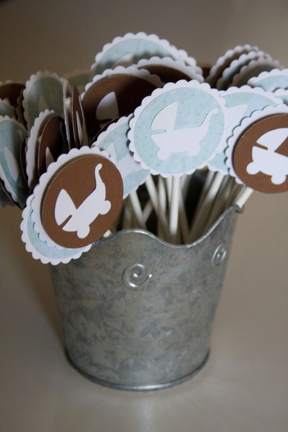 CHOOSE YOUR COLOR Custom Cupcake Toppers