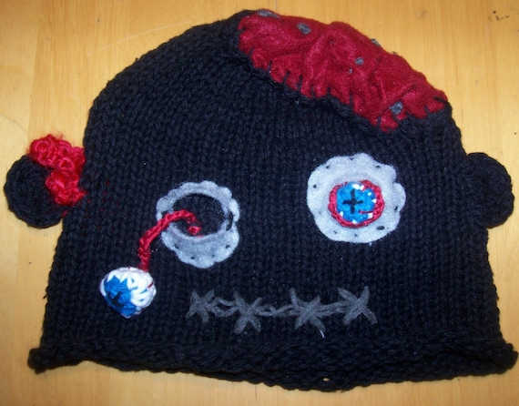knitted zombie hat