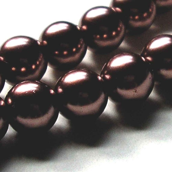 Gorgeous Chocolate Brown Pearls - 10mm rounds - reserved for Raquel2000