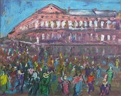 Mardi Gras New Orleans 30 inch ORIGINAL PAINTING Artwork BenWill