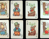 Vintage ANIMAL RUMMY Playing Cards Mini's