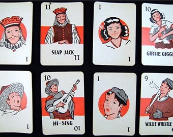 1930's Vintage SLAP JACK Playing Cards Mini's