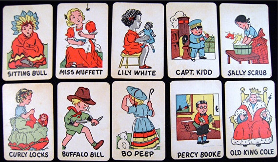 Vintage OLD MAID Playing Cards Mini's Set No.2