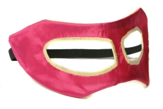 Little Hero Mask - Hot Pink and Yellow