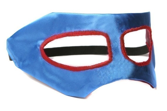 Superhero Mask by Little Hero Capes - Blue and Cranberry